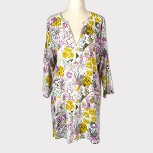 3/$15 J. Crew Floral Printed Tunic Coverup size large